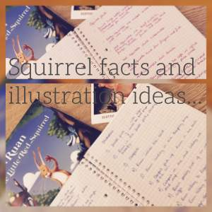 Squirrel facts and illustration ideas
