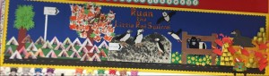 Wall frieze made by P1A at Linlithgow Primary